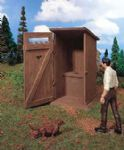 Vollmer 41250  Toilet Hut, L.73 x B. 73 x H. 120mm